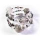 Filigrane 3-reihige bunte Armspirale mit Glasperlen und großen und kleinen Metallperlen UNIKAT