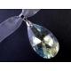 Fliederfarbenes Kropfband aus Organza mit geschliffenem Glastropfen - Trachtenschmuck Dirndlschmuck