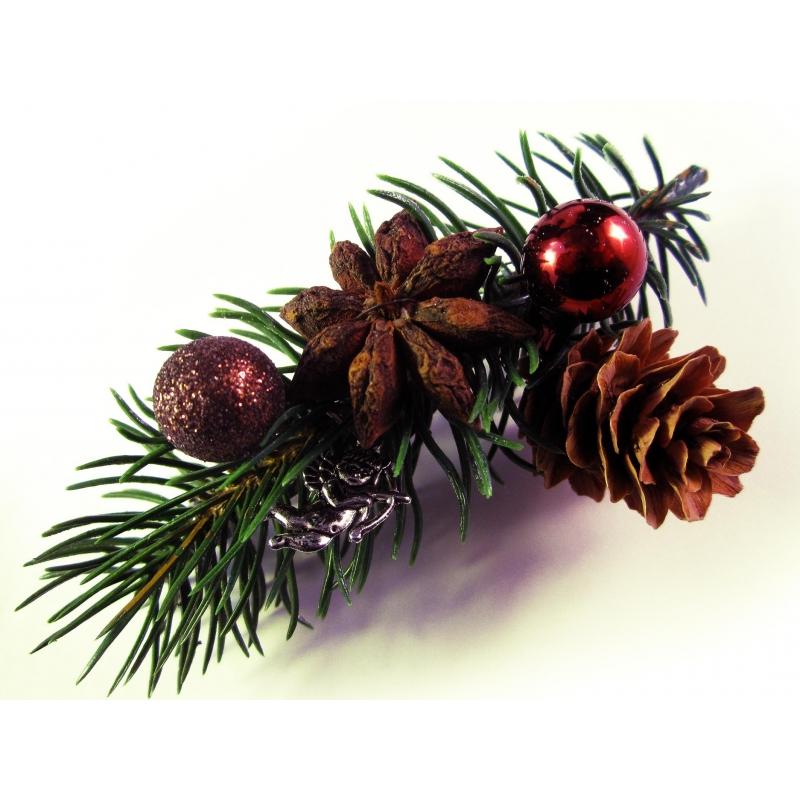 weihnachts haarspange tannenzweig u weihnachtsdeko unikat haarschmuck. Black Bedroom Furniture Sets. Home Design Ideas