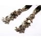 Lange barocke schwarz silber Ohrclips mit Engel - Barocke Ohrhänger - Trachtenschmuck Dirndlschmuck