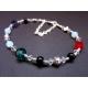 Weites Armband / Fußkettchen mit farbigen Glasperlen Opalglas - Bunter Glasschmuck