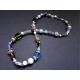Bunte Halskette aus Glasperlen UNIKAT - bunter Glasschmuck