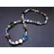 Bunte Halskette aus Glasperlen und Tibetsilber UNIKAT - bunter Glasschmuck