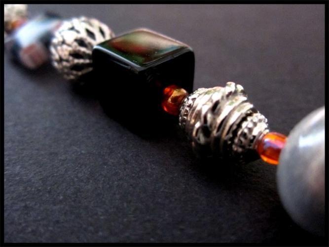 Taschenanhänger braun mit Silbermond