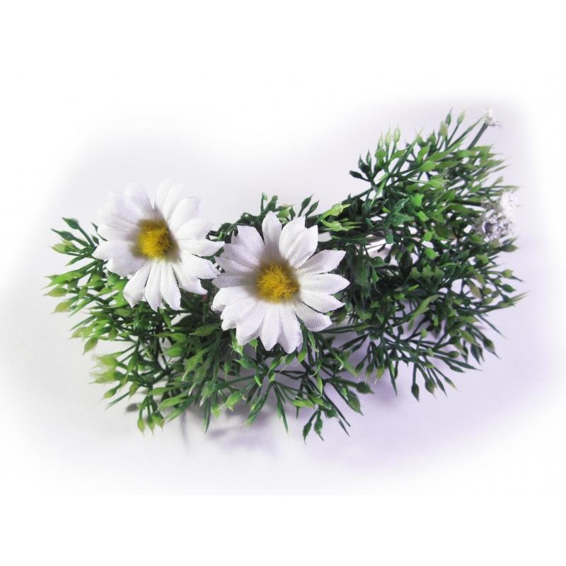 Sommerliche Blumen Haarspange mit Gänseblümchen / Margeriten - Accessoire Haarspange