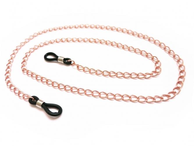 Rosegoldfarbene Brillenkette aus Gliederkette - Accessoire Brillenkette