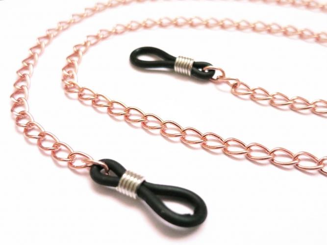 Rose Gold Brillenkette aus rosegold Gliederkette - Accessoire Brillenkette
