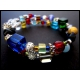 2-reihige farbige Armspirale mit Glasperlen Unikat