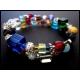 2-reihige farbige Armspirale mit Glasperlen