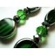 Grün silber Ohrringe Ohrclips aus Kristallglas