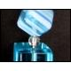 Ohrringe mit türkisem Kristallglas und Millefiori-Würfeln