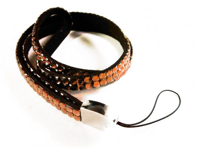 Braunes Strass Schlüsselband Strass Brillenkette Strass Handyband