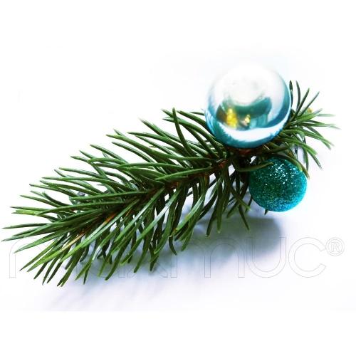 Weihnachts Haarspange in grün, hellblau und türkis - Haarschmuck