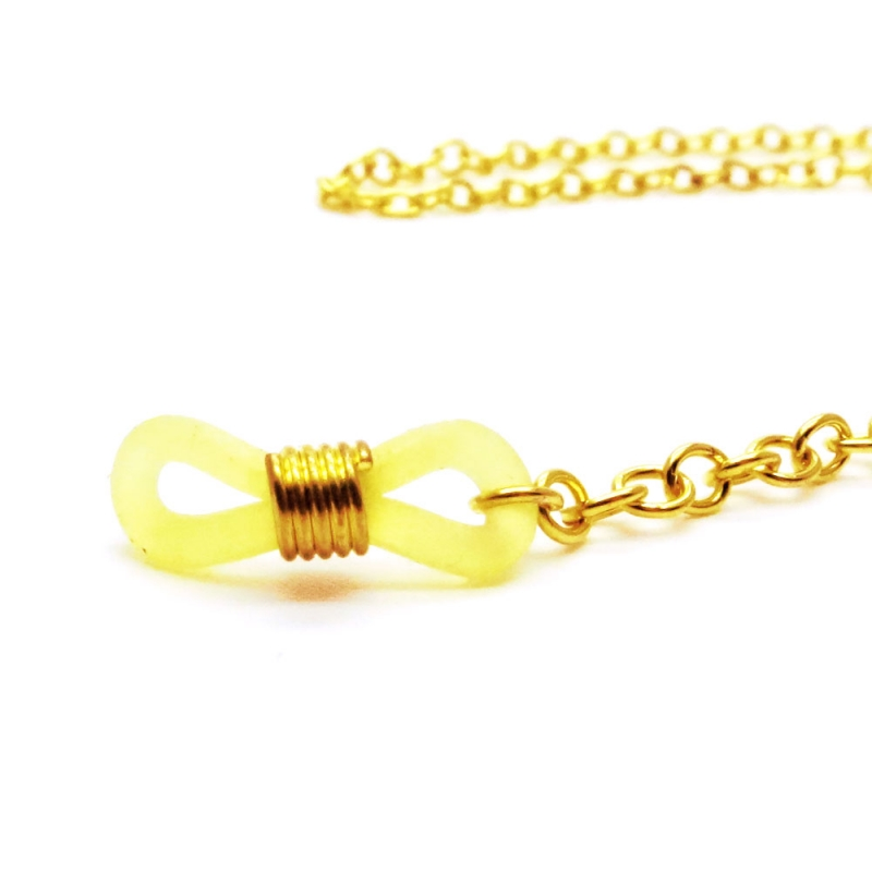 Goldfarbene Brillenkette aus Gliederkette - Accessoire Brillenkette