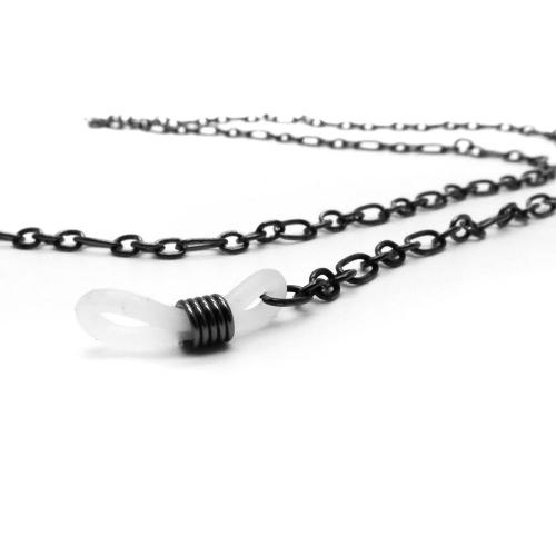 Gunmetal Brillenkette aus filigraner Gliederkette - Accessoire Brillenkette
