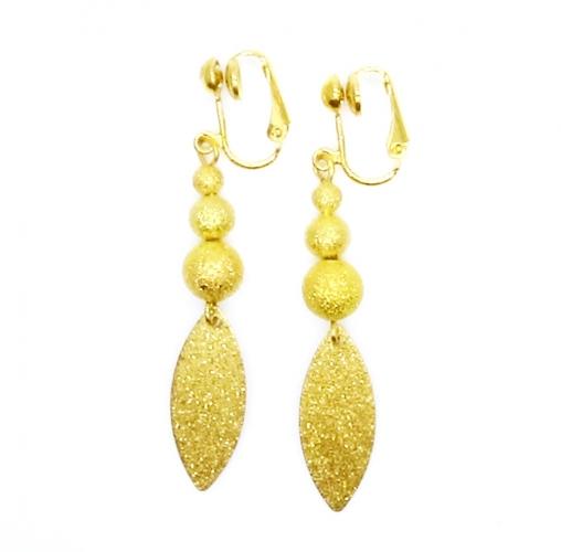 Schillernde Stardust gold OhrCLIPS Ohrhänger - leichte Ohrclips
