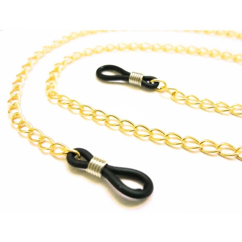Goldfarbene Brillenkette aus filigraner Gliederkette - Accessoire Brillenkette