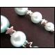 Ohrringe in Türkis mit Silbersternchen
