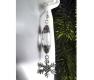 Schneeflocken Ohrhänger / Ohrclips in silberfarben - Winter Schmuck