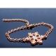Strass Schneeflocken Armband in hellsilberfarben stufenlos verstellbar