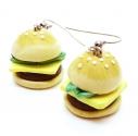 Hamburger Ohrringe mit Edelstahl Ohrhaken - bunter Sommerschmuck