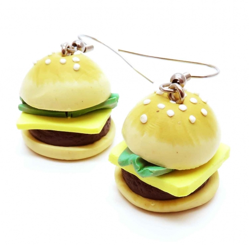 Hamburger Ohrringe - bunter Sommerschmuck