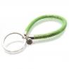Smaragdgrüner glitzer Schlaufen Schlüsselanhänger mit Kunstleder und Edelstahl