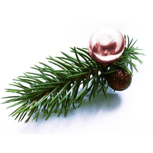 Weihnachts Haarspange in grün, rosa und braun - Haarschmuck