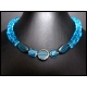 Türkise kurze Halskette aus Kristallglas