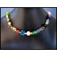 Halskette aus bunten Glasperlen und Metall Spacern UNIKAT - bunter Glasschmuck