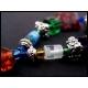 Schlüsselanhänger bunt mit Tibetsilberelementen und Glasperlen