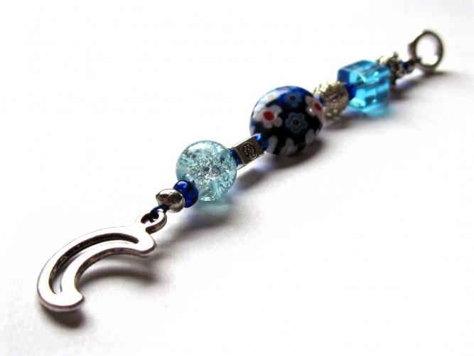 Schlüsselanhänger maxmuc Sternenschweif Silbermond blau 1
