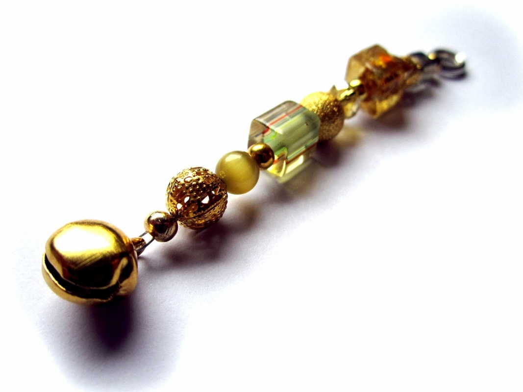 Sternenschweif Schlüsselanhänger goldenes Glöckchen 1