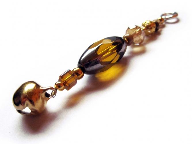 Sternenschweif Schlüsselanhänger goldenes Glöckchen 2