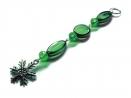 Grüner Weihnachtsanhänger Schneeflocke - Weihnachtsdeko Anhänger
