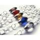 Bunte Brillenkette mit Glasperlen und silberfarbener Gliederkette