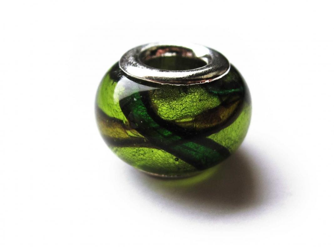 European Bead Glas italian Style grün