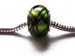European Bead Glas italian Style grüntönig