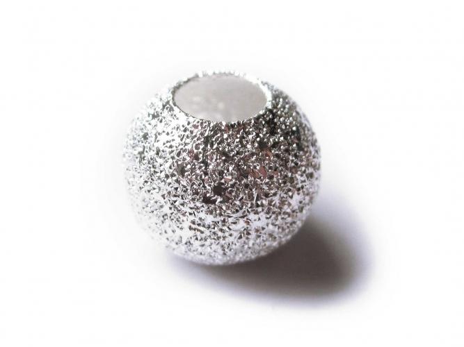 European Bead Metallbead Stardust Sternenstaub hell-silberfarben