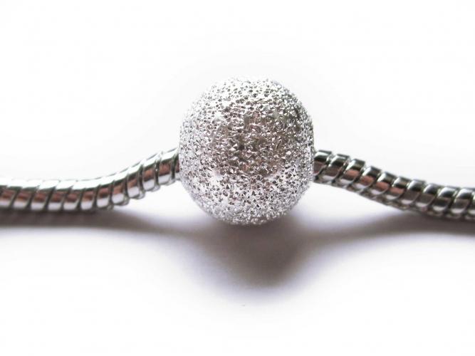 European Bead Metallbead Stardust Sternenstaub silberfarben