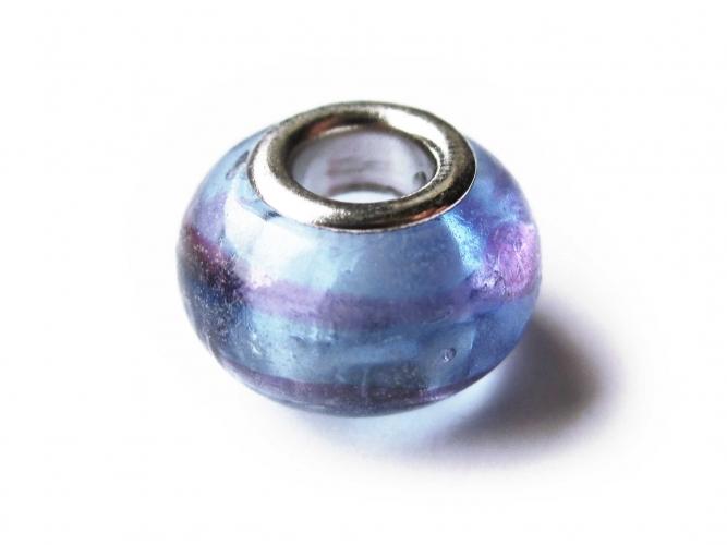 European Bead Glas blass leuchtendes violett lila