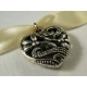 Goldfarbenes Halsband mit filigranem Trachtenherz - Trachtenschmuck Dirndlschmuck
